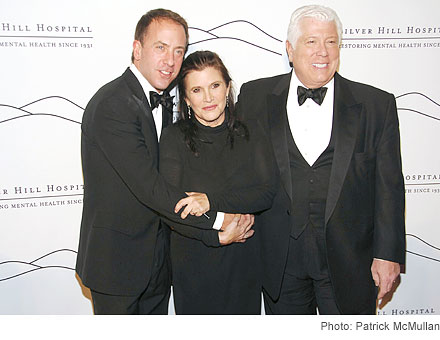Michael Cominotto, Carrie Fisher, Dennis Basso
