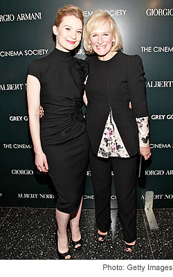 Mia Wasikowska Glenn Close Giorgio Armani & Cinema Society screening Albert Nobbs