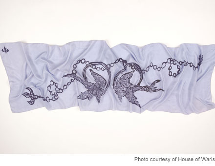 House of Waris Spring 2012 scarf