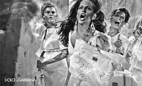 Dolce and Gabbana Victoria's Secret models Spring 2011 ad campaign