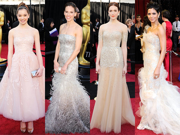 oscars 2011 dress trend sequins Hilary Swank Hailee Steinfeld Halle Berry