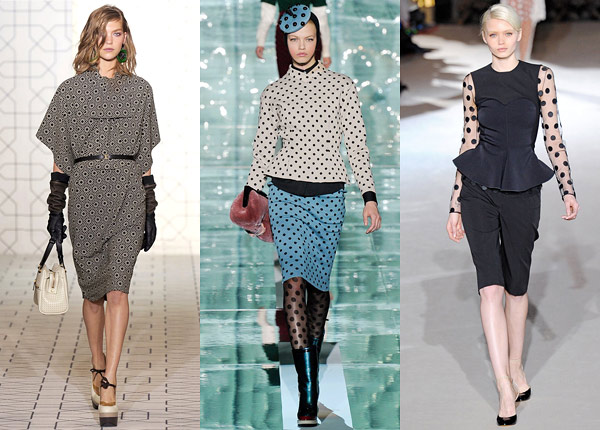 dots trend Fall 2011 runway