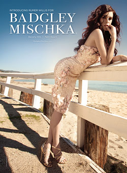 Rumer Willis Badgley Mischka Ads