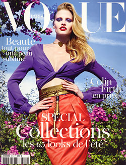 Lara Stone Vogue Paris cover February