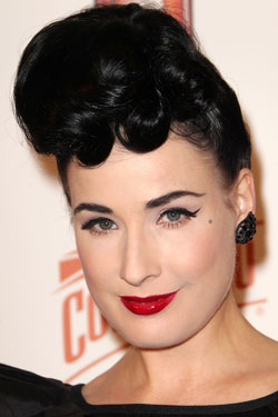 Dita Von Teese bold red lips