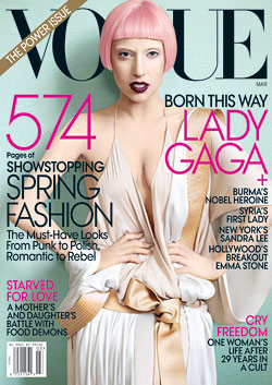 Lady Gaga March Vogue Cover