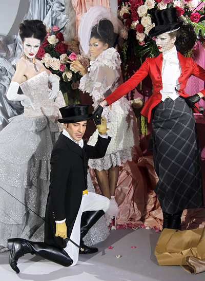 john galliano suspended