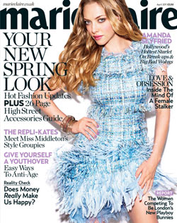 Amanda Seyfried Marie Claire April 2011 cover chanel dress