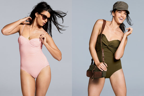 Crystal Renn Jcrew swimsuits