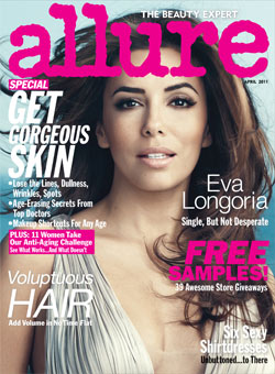 Eva Longoria Allure April 2011 cover