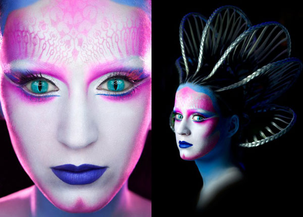 Katy Perry alien makeup