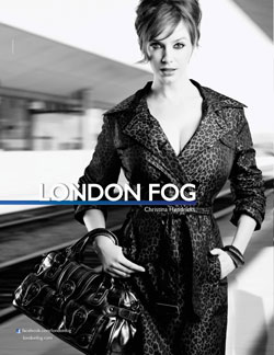 Christina Hendricks London Fog Fall 2011 ad campaign