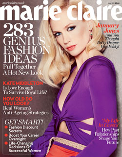 January Jones Marie Claire UK May 2011 cover