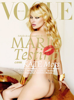 Kate Moss nude  Vogue Brasil cover