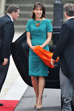 samantha cameron aldo royal wedding