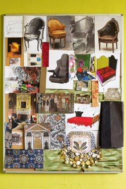 Sicis furniture Christian Lacroix moodboard collage