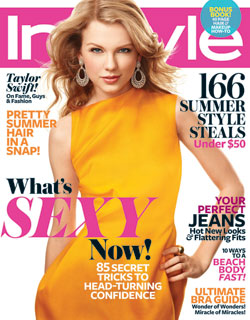 Taylor Swift InStyle June 2011 cover yellow