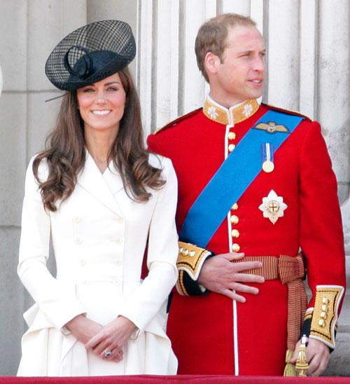 Kate Middleton white Alexander McQueen dress