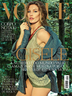 Gisele Bündchen Vogue Brasil July cover Amazon