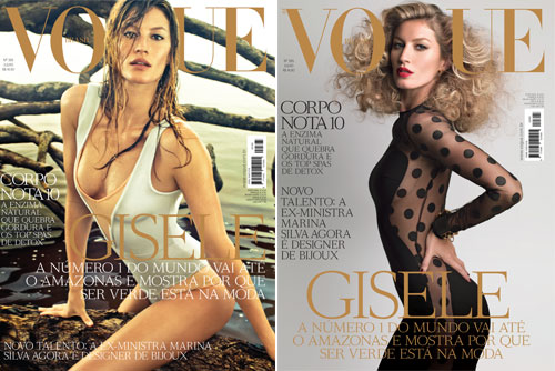 Gisele Bündchen Vogue Brasil July covers
