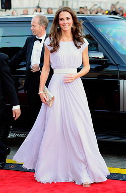 kate middleton alexander mcqueen bafta dress