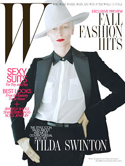 Tilda Swinton W magazine August cover