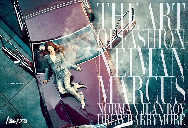 Drew Barrymore Neiman Marcus Art of Fashion Campaign