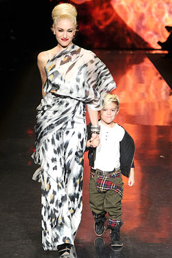 Gwen Stefani Kingston Rossdale  L.A.M.B. Fall 2011 runway