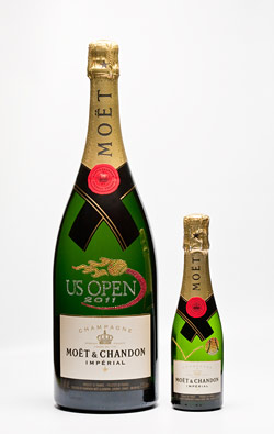 moet to launch u.s. open champagne bottle