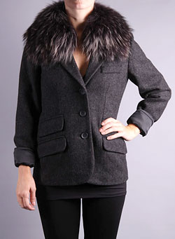 Blazer with Fur Collar by Brochu Walker ArcadeBoutique