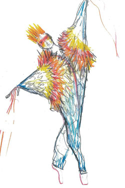 "Stella McCartney's sketch  ""Ocean's Kingdom"""