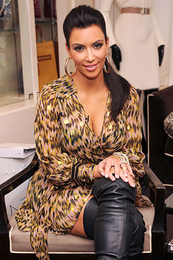 Kim Kardashian  Belle Noel jewelry launch