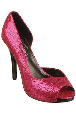 pink sparkly Fergie Footwear AWARENESS shoe