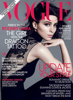 rooney mara vogue magazine cover