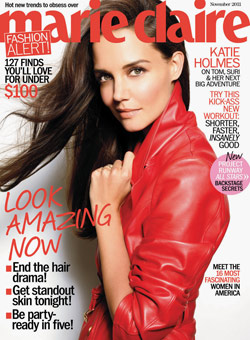 katie holmes covers marie claire magazine