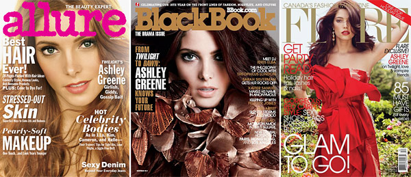 ashley greene covers 3 magazines