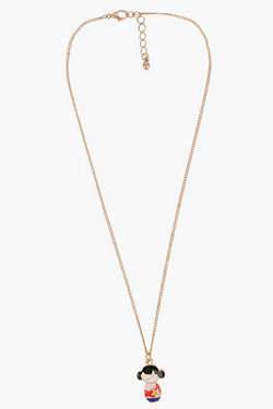 forever 21 oriental girl necklace
