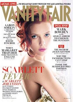 Scarlett Johansson Vanity Fair December cover nude