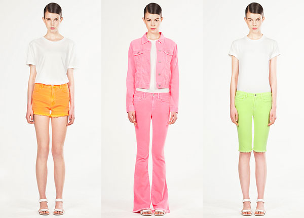 Christopher Kane/J Brand collaboration neon denim