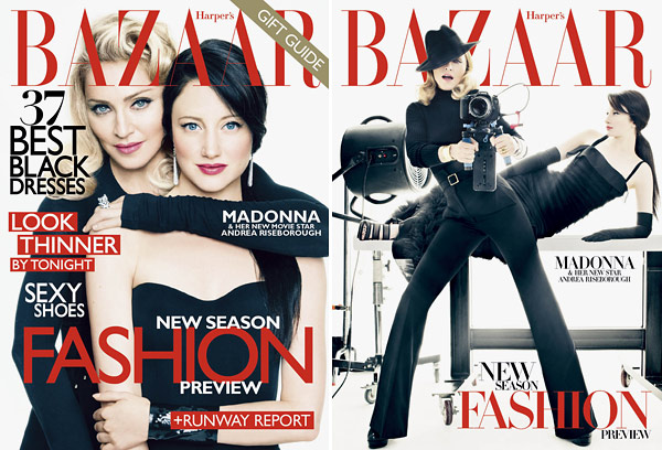 madonna harper's bazaar december covers