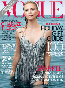 Charlize Theron Vogue December cover