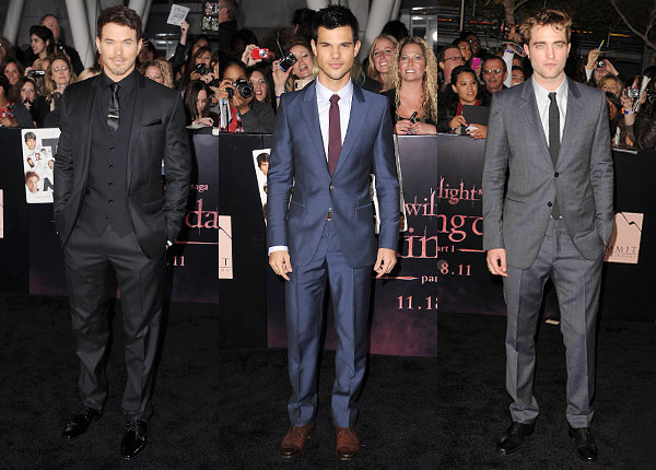 Kellan Lutz, Taylor Lautner, and Robert Pattinson