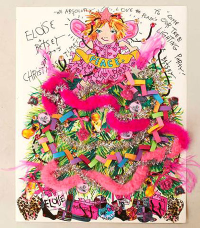 eloise plaza hotel betsey johnson christmas invite
