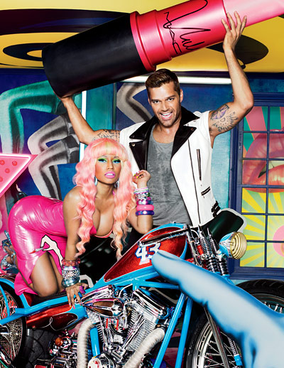 Nicki Minaj and Ricky Martin for Mac cosmetics