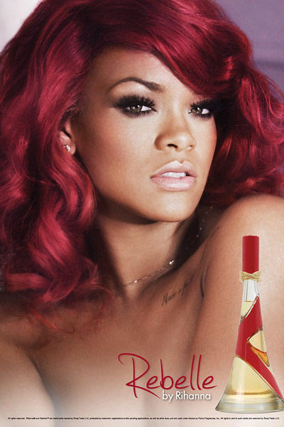 rihanna topless rebelle fragrance ad