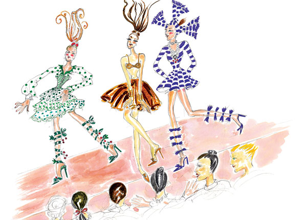Manolo Blahnik 'The Elves and the Shoemaker' illustration