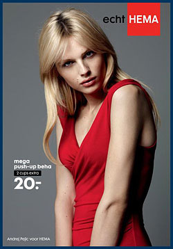 Andrej Pejic Models Push-Up Bras Hema