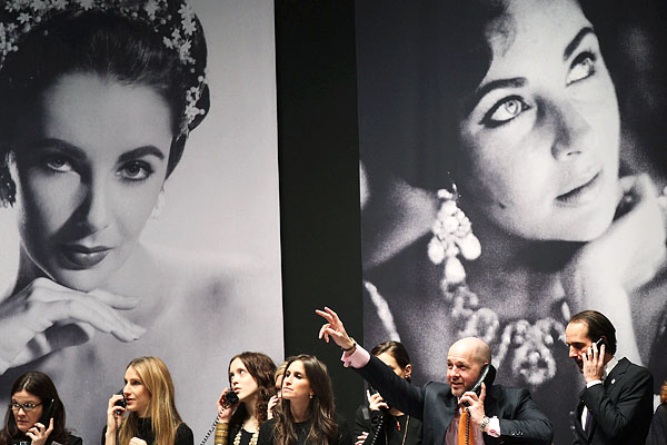Elizabeth Taylor jewelry Christie's auction house