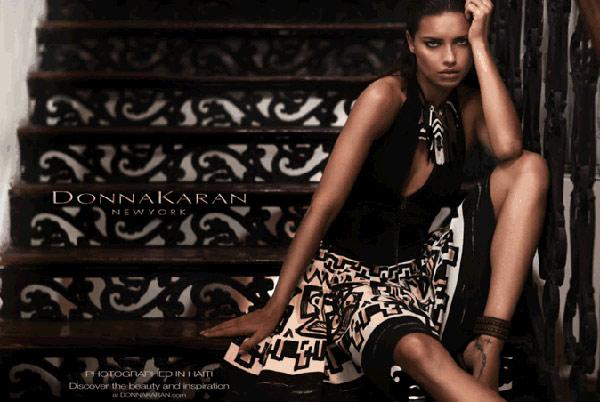 Adriana Lima Donna Karan Spring 2012 ad campaign