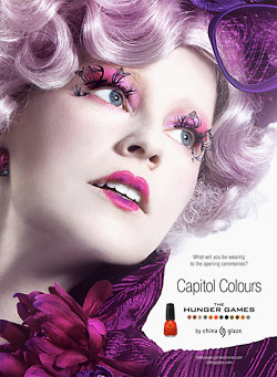 Effie Trinket is the face of hunger games nail polish